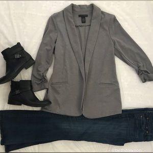 🆕Grace Elements Rouched Sleeve Blazer Sz L